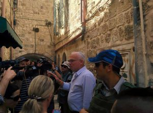 Minister Uri Ariel mocht woensdag niet de Tempelberg op. Foto: Tempelinstituut
