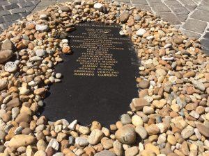 De gedenksteen voor Raoul Wallenberg Grote Synagoge Boedapest